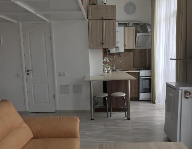 Уютная двухуровневая однокомнатная квартира в Ялте 19