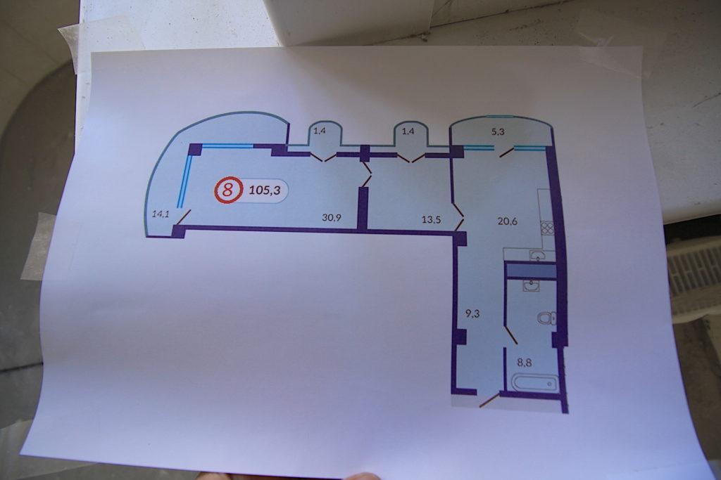 Квартира №77 в ЖК Континент 12