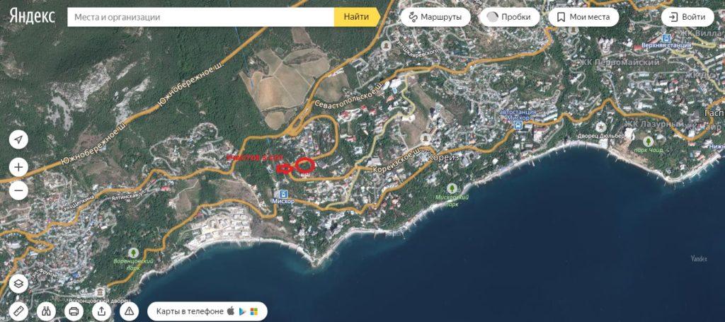 Участок в Кореизе в 500 м от моря для ижс 2